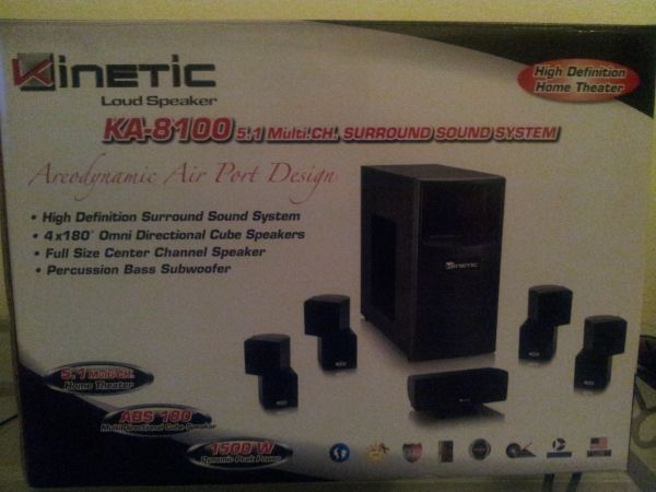 kinetic home theather system - $1