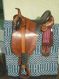 17 NEW ALL LEATHER TAN AUSTRALIAN STOCK SADDLE PACKAGE NO RESERVE - $189 (TURLOCK)
