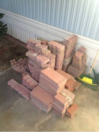 Red Bricks Scalloped Square Curved Landscaping Bricks - $75 (McHenry and Pelandale )