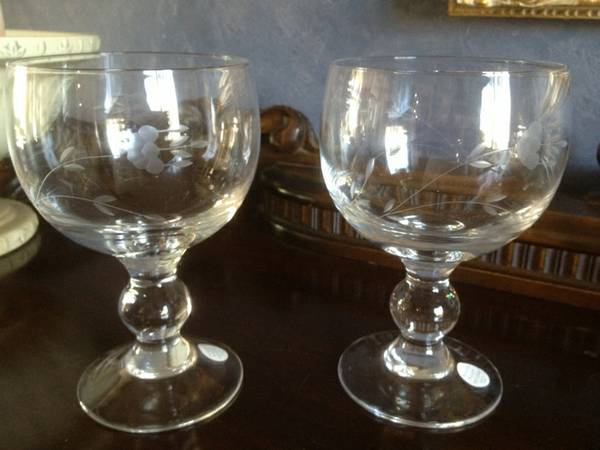 Princess House Grande glasses NIB - $25 (Manteca)