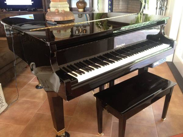 George Steck baby grand piano with player - $4500 (sonora)