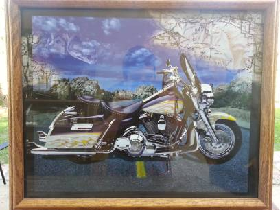 2 HARLEY DAVIDSON PICTURES AND JAMMIE JONSON PICTURE - $60 (OAKDALE)