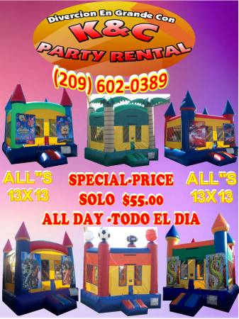KC PARTY RENTALS (FREE DELIVERY ALL DAY)
