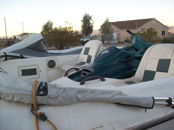 91 Bombardie Jet Ski with Matching Shuttle Craft on Trailer - $2100 (Golden Valley, Ariz.)