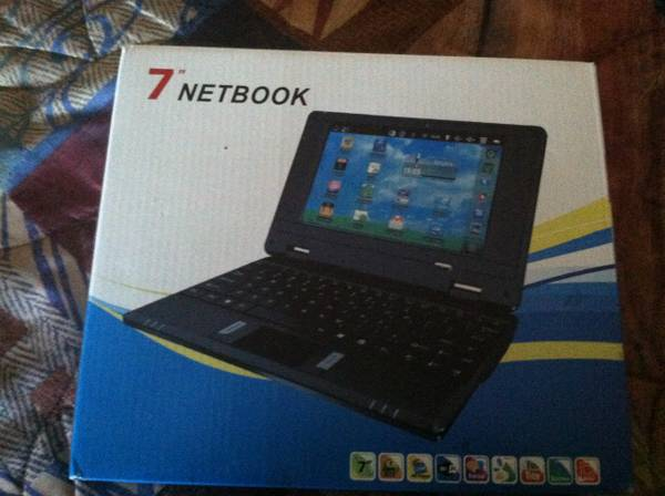 New 7 VIA8650 Mini Notebook Netbook Android 2.2 800MHz 256MB 4GB Wi-F - $65 (Lake Havasu City)