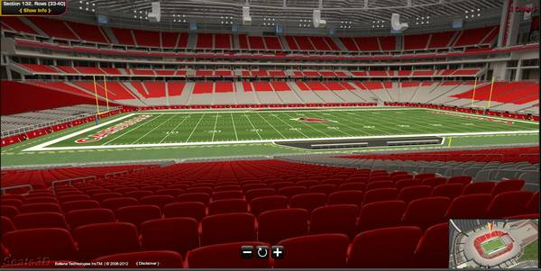 2 4 TICKETS SAN DIEGO CHARGERS VS ARIZONA CARDINALS-LOWER LEVEL 824 - $70 (SEC 132 ROW 39 - 25 YD LINE)