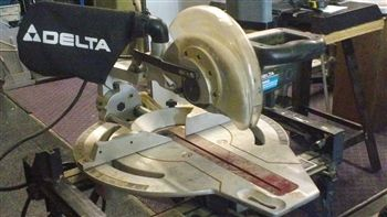 DELTA Sidekick 36 250 Sliding 10 Compound Miter Saw w Stand - $300