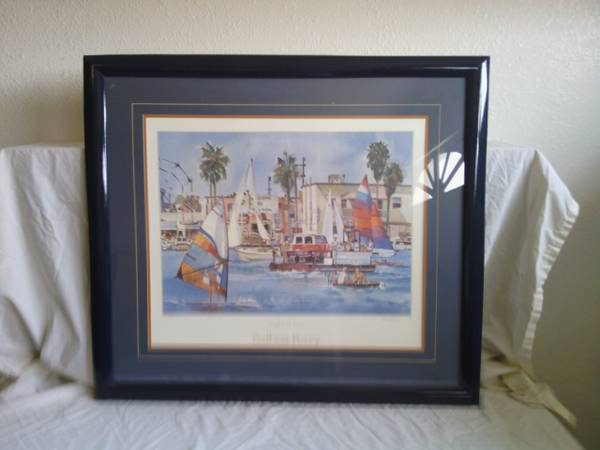 signed balboa ferry right of way print by ruth hynds - $200 (lhc)