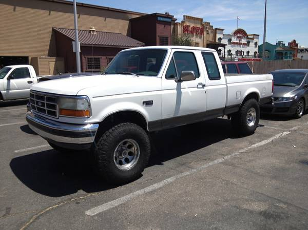 lifted 92 f150 ex cab...3k in new parts trade prerunner,fast car. (kingman)