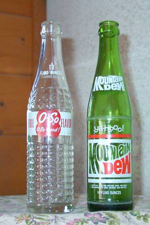 O-So and Mountain Dew Soda Bottles - $12 (Kingman AZ)