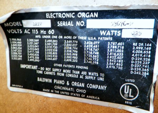 1974 Baldwin Fun Machine Organ - $300 (Lake Havasu City)