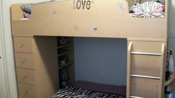 Bunk Beds Desk Combo For Sale