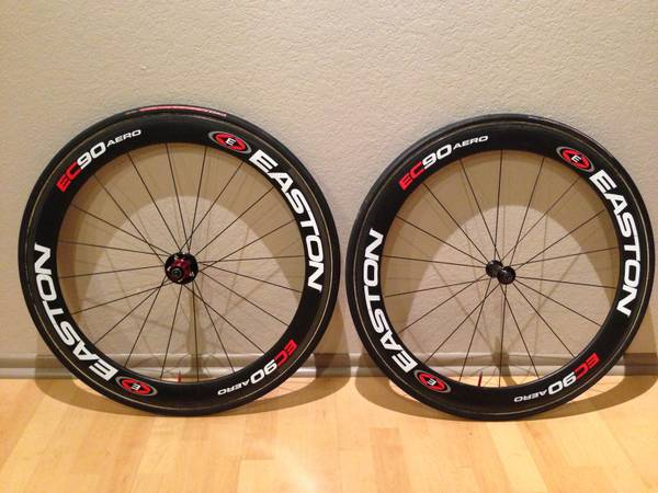Easton EC90 Aero 56mm Deep Carbon Fiber Tubular Wheelset - $600 (PomonaBreaIrvine)