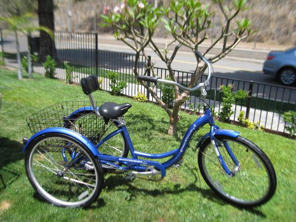 Schwinn Town Country 26 Tricycle 3 Speed Custom Saddle Back Support - $475 (city of ORANGE)