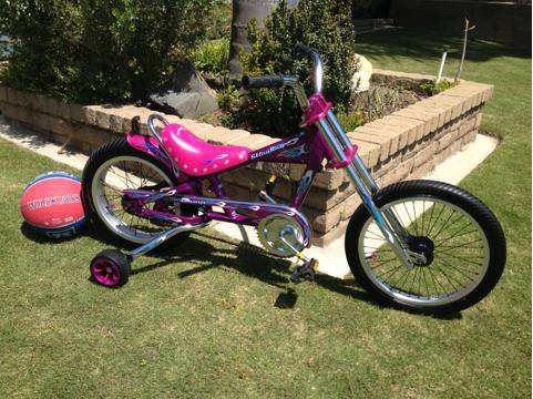 OCC Schwinn stingray chopper kids 16 inch with training wheels - $85 (Huntington Beach)