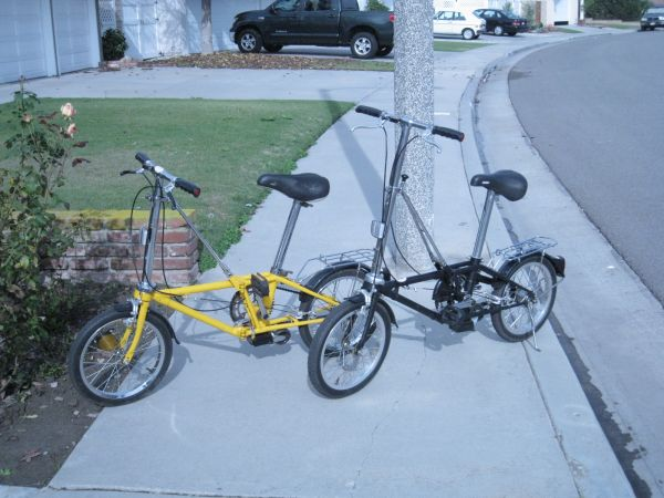 2 HonDahon Folding Bikes - $800 (Huntington Beach)