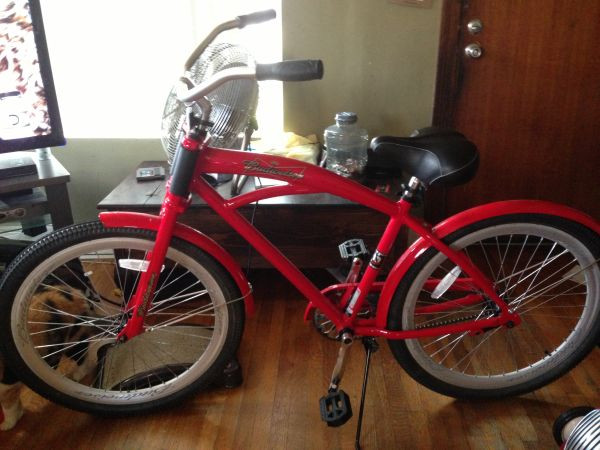 Red Budweiser Beach Cruiser 26 Limited Edition - $1 (Long Beach)