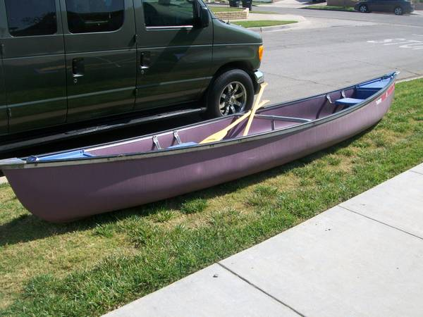 15 foot COLEMAN 3 PERSON CANOE - $325 (ORANGE)