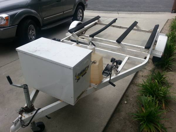 Double Zieman Seadoo PWC trailer with storage box and spare tire - $650 (Laguna Niguel (South OC))