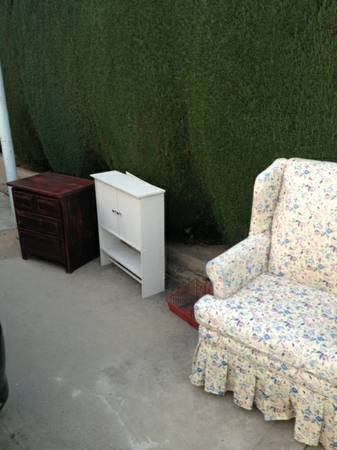 Chair, medicine cabinet, dresser (Orange, CA)