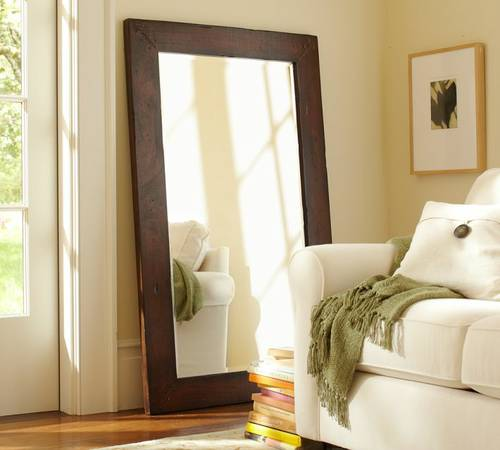 Pottery Barn Style Large Wood Mirror Frame 6x3 - $150 (Dana Point)