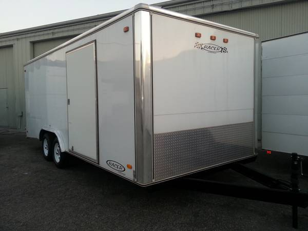 8 12 x 20 Wide Body Trailer Carson Racer Enclosed Car Vehicle Box - $6500 (Ontario)