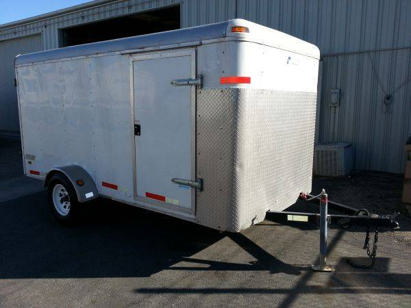 6x12 Pace Ameircan Enclosed White Cargo Box Trailer Must go - $2300