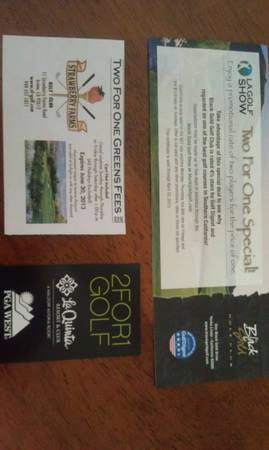 Golf Discount cards - (2) passes to Toshiba Calssic - $1 (Irvine)