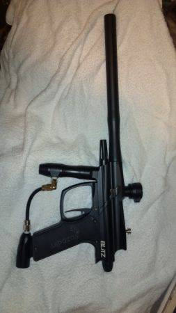 Azodin Blitz Upgraded paintball gun - $250 (Santa Ana )