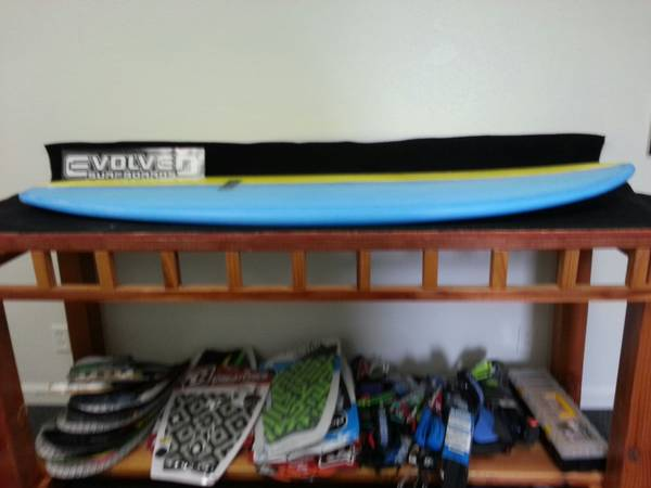58 Evolved Surfboards Couch Potato style surfboard with resin tint. Brand New - $330