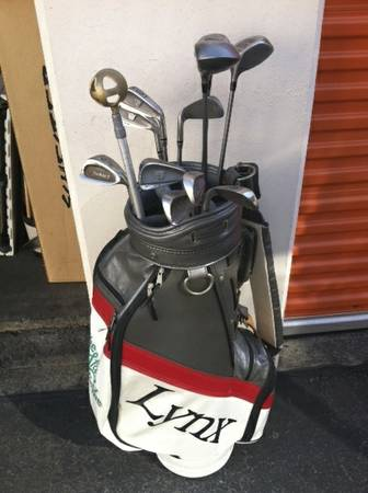 Vintage 80s PING STAFF TOUR PRO Golf Bag Lynx clubs - $425 (Costa Mesa)