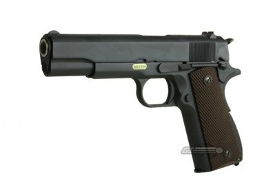 WE 1911 Full Metal airsoft pistol 6 mags, case, and propane adaptor - $125 (RSM)