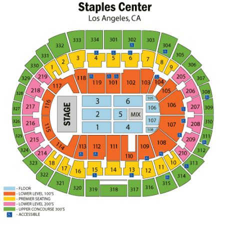 R. KELLY NEW EDITION AND THE JACKSONS - STAPLES CENTER_BET - $200 (CENTER FLOOR 5LOGE 109 AISLE - IRVINE)