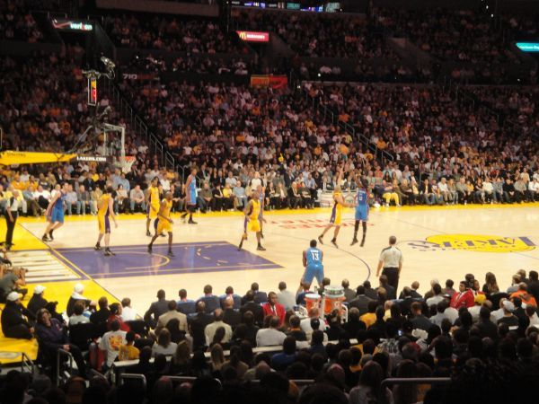 2 LOS ANGELES LAKERS SEASON SEATS Sec 103, Row 19, VIP Parking - $270 (Anaheim - 19 ROWS BEHIND THE BENCH)