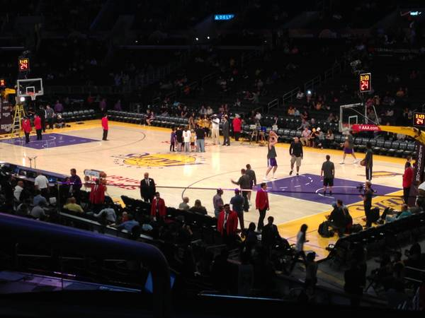 Lakers Rockets 417 aisle seats with parking Premier Seating - $600 (PR 1 row 3)