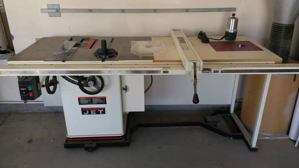 Table Saw 10 JET XACTA 3HP With New Bosch Router Mobile Base - - $1600 (Murrieta, Temecula)