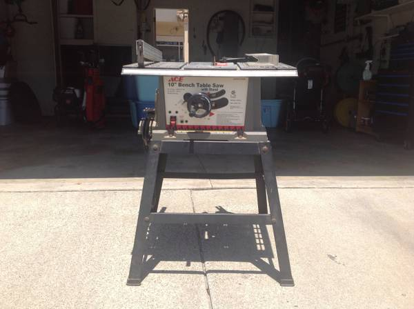 Ace Hardware Ace 10 Bench Table Saw with Stand - $45 (Garden Grove)