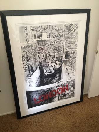 Framed Mr. Brainwash Icons London Screenprint SN Fairey Obey Banksy - $1500 (Newport Beach)