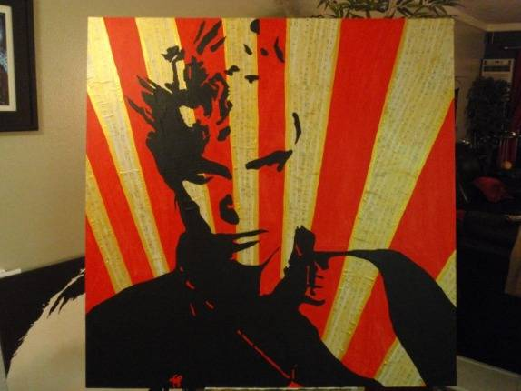 Billy Idol - Street ArtPop Art - Original Painting - LARGE - $250 (Orange County Long Beach LA)