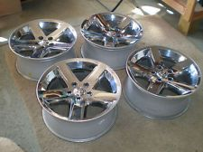 DODGE RAM 1500 CHROME CLAD 20 x 9 INCH WHEEL OEM 5 x 5.5 INCH BOLT PAT - $900 (ORANGE)