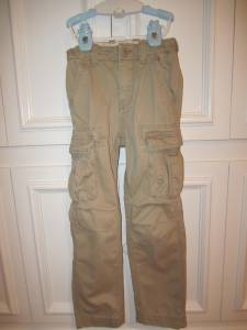 BOYS GAP KIDS KHAKI CARGO PANTS - SIZE 6 - 8 - $10 (Newport Beach)