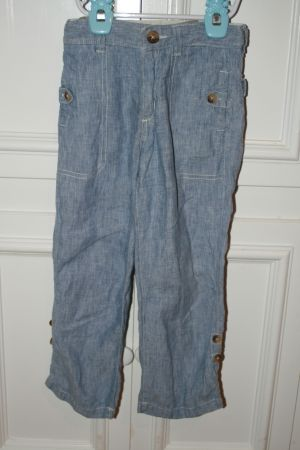 BOYS BABY GAP BLUE LINEN PANTS SIZE 5 - $10 (NEWPORT BEACH)