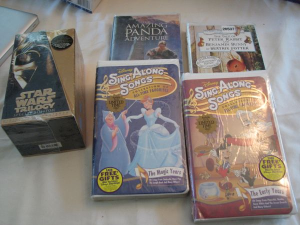 Huge Disney Collection of Collectible VHS Videos - NEW - $1 (Santa Ana)