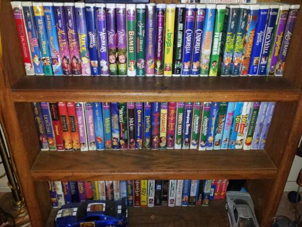58 CARTOONSMOVIES AND FREE VCR INCLUDED - $150 (WHITTIER)
