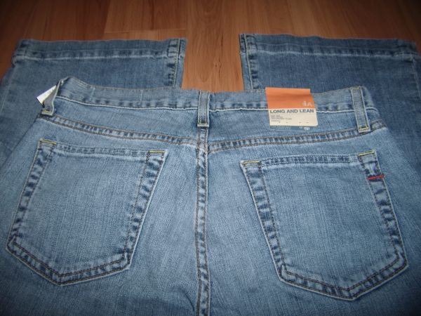 GAP JEANS LONG AND LEAN STRETCH SIZE 4 ANKLE INSEAM 30 NWT - $18 (SANTA ANA)