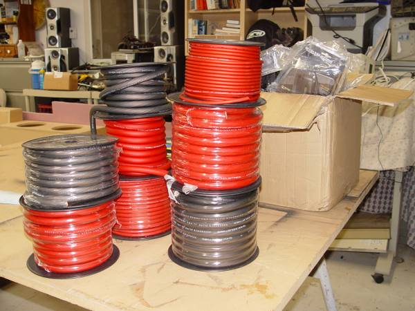 Shok 0, 4, 8 and 12 gauge speaker wire Very thick strand count (Bur)