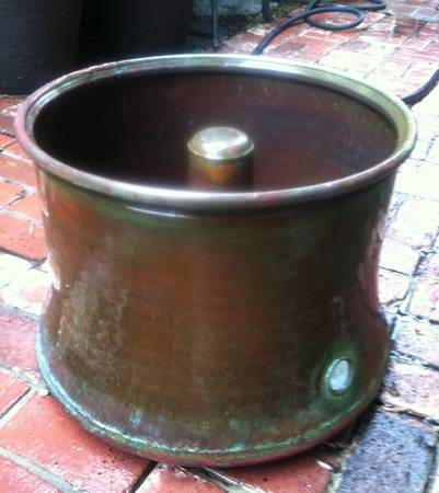 Flared Bottom Solid Copper Hose Pot - $145 (Corona del Mar)