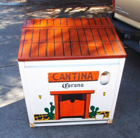 Large all metal CORONA ice chest COOLER - Looks like a Cantina - $325 (OC area)