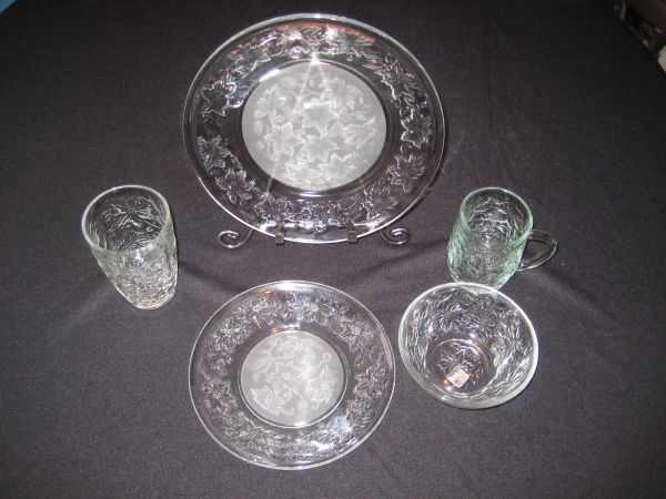 Princess House Crystal (Fantasia) 20 Piece Dinner Set - $225 obo (Lake ForestFoothill Ranch)