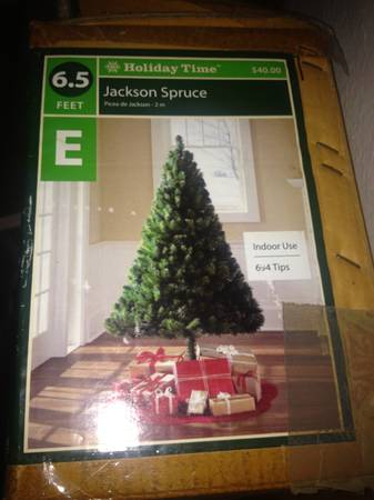 christmas decoration bundle with fake tree - $30 (whittier)